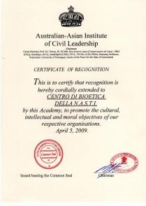 Australian Asian Centro Bioetica NASTI
